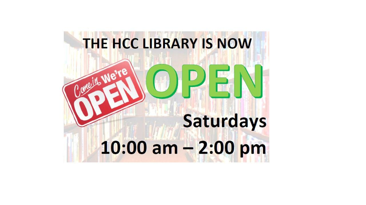 HCC Library Open Saturdays