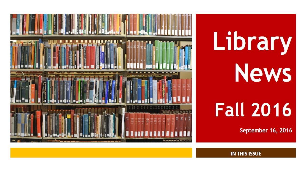 HCC Library News