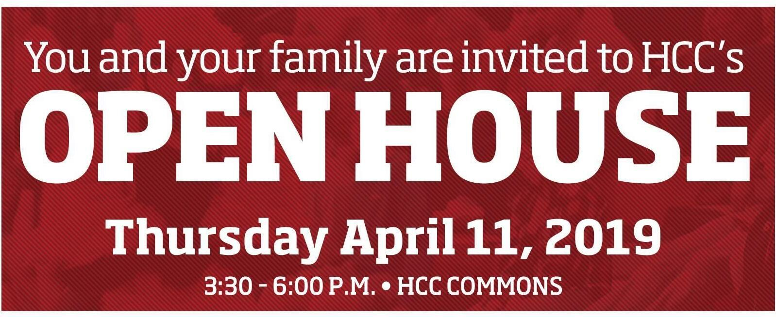 HCC Open House - April 18th!